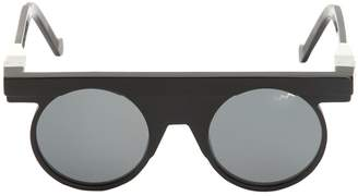 Va Va Vava Rounded Matte & Shiny Acetate Sunglasses