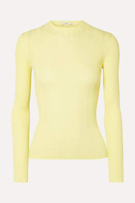 Vince Ribbed Cotton Sweater - Bright yellow