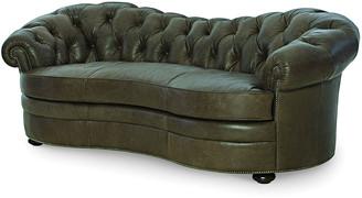 """Century Furniture Ebron Curved Leather Sofa, 88"""""""