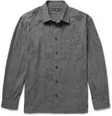 Issey Miyake Men - Broken-stripe Textured Cotton-blend Shirt