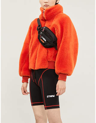 Heron Preston Contrast-stitch stretch-jersey cycling shorts