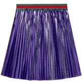 Gucci Girl's Pleated Purple Lame Skirt