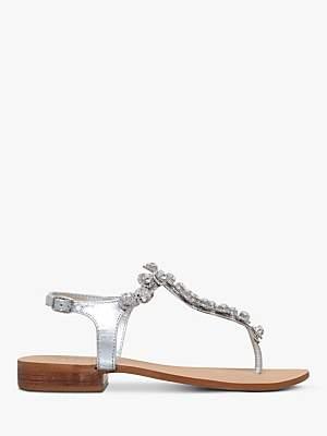 Carvela Bebe 2 Sandals, Silver Leather