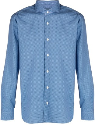 Barba Print Button Shirt