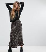 Reclaimed Vintage Peplum Hem Midi Skirt In Floral