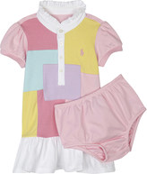 Ralph Lauren Patchwork cotton dress and under shorts 3-24 months