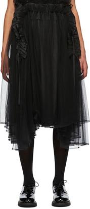 Noir Kei Ninomiya Black Tulle Overlay Skirt