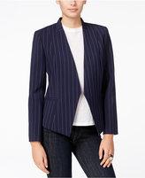 Armani Exchange Pinstripe Open-Front Blazer