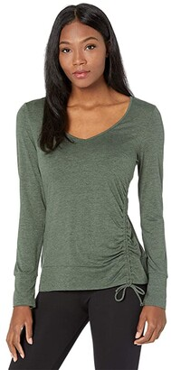 Carve Designs Tilton Top (Hunter Heather) Women's Clothing
