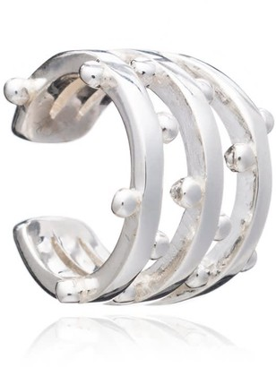 Rachel Jackson London Statement Punk Earring Cuff - Silver