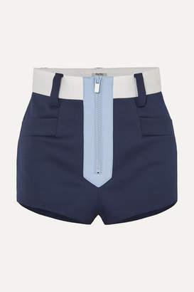 Miu Miu Color-block Neoprene Shorts - Navy