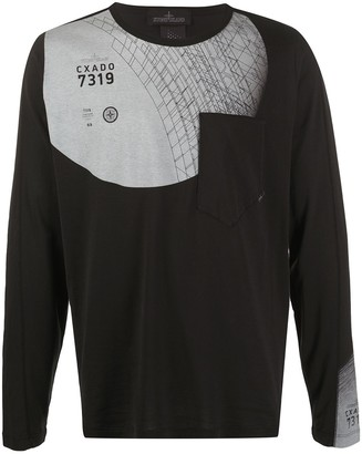 Stone Island Shadow Project graphic print long-sleeve T-shirt