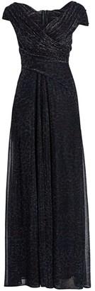 Talbot Runhof Metallic Off-The-Shoulder Ball Gown