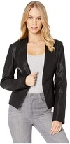 Blank NYC Faux Leather Open Blazer in Mean Streets (Mean Streets) Women's Jacket