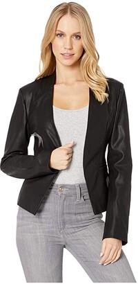 Blank NYC Faux Leather Open Blazer in Mean Streets (Mean Streets) Women's Jacket
