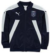 Puma Kids Italia FIGC Football Track Jacket Top Coat Junior Boys Mesh Jersey