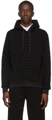 Dolce & Gabbana Black Flocked Print Hoodie