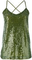P.A.R.O.S.H. sequin tank top - women - Polyamide/Spandex/Elastane/PVC - S