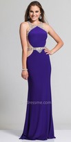 Dave and Johnny Rhinestone Illusion Racerback Prom Dress