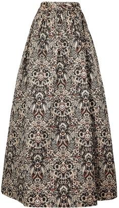 Alice + Olivia Tina brocade maxi skirt