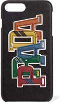 Prada Appliquéd Textured-leather Iphone 7 Plus Case - Black