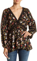 Angie Floral Bishop Sleeve Blouse