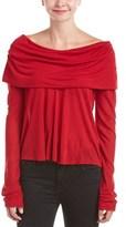 Calypso St. Barth Meryta Off-shoulder Cashmere-blend Top.