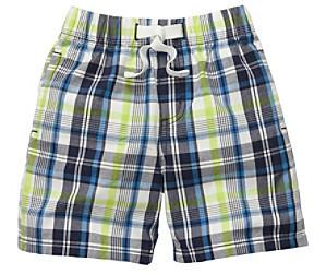 Osh Kosh OshKosh BGosh Boys' 2T-4T Blue Plaid Pull-On Shorts