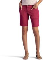 Lee Classic Fit Twill Bermuda Shorts-Petites