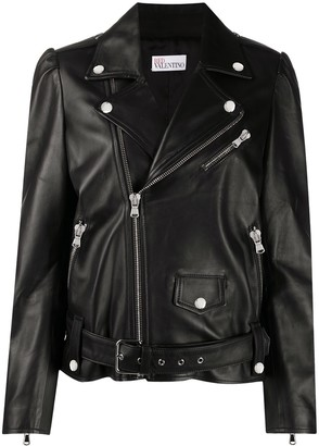 RED Valentino Belted Biker Jacket