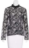 Maison Rabih Kayrouz Lace Long Sleeve Top