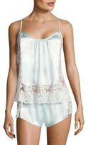 Satin and Lace Camisole and Shorts