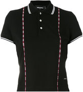 DSQUARED2 tartan insert polo shirt