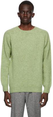 Harmony Green Shaggy Sweater