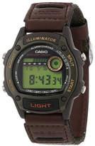 Casio Illuminator Mens Brown Nylon/Leather Strap Sport Watch W94HF-3AVOS