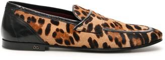Dolce & Gabbana Leopard Print Erice Loafers