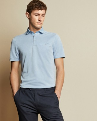 Ted Baker JETOFF Woven collar polo shirt