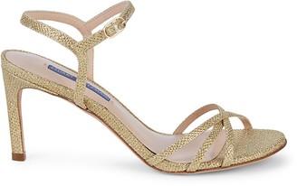 Stuart Weitzman Starla Glitter Sandals