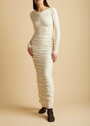 KHAITE The Lana Dress in Ivory