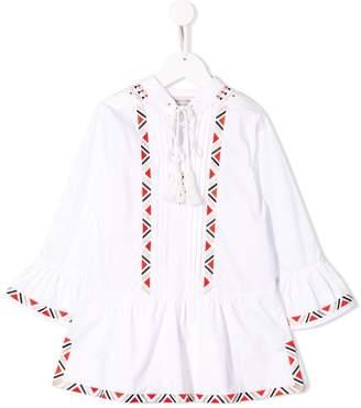 Alberta Ferretti Kids embroidered midi dress