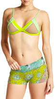 Maaji Lime Collage Reversible Padded Bikini Top