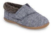 Toms Infant Boy's Tiny Faux Fur Lined House Slipper