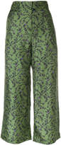 Christian Wijnants floral cropped trousers