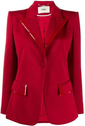 Fendi red single button blazer