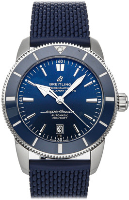 Breitling Blue Stainless Steel Superocean Heritage B20 AB2020161C1S1 Men's Wristwatch 46 MM