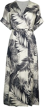Equipment Tavine Silk Print Midi Dress