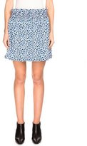 Kenzo Double-Face Popcorn Jacquard A-Line Skirt, Midnight Blue