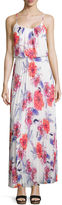 Bisou Bisou Sleeveless Pleated Floral Maxi Dress
