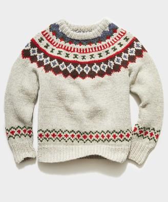 Todd Snyder Canada Faire Isle Sweater in Cream