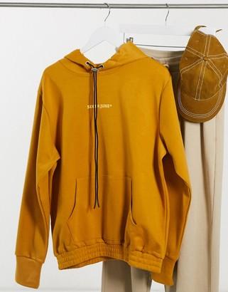 Sixth June logo hoodie in mustard